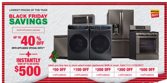 Home Depot Now To Get Black Friday Prices On Liances Save Up 40 And 500 In Additional Savings Plus You Can Free Liance