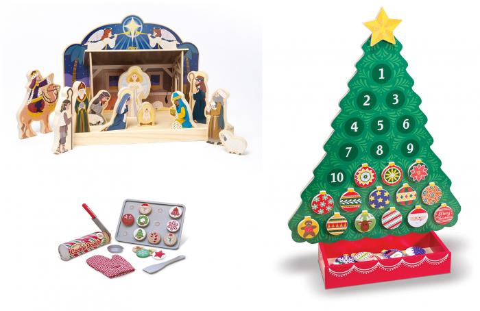 Melissa Doug Wooden Nativity Set Slice Bake Christmas