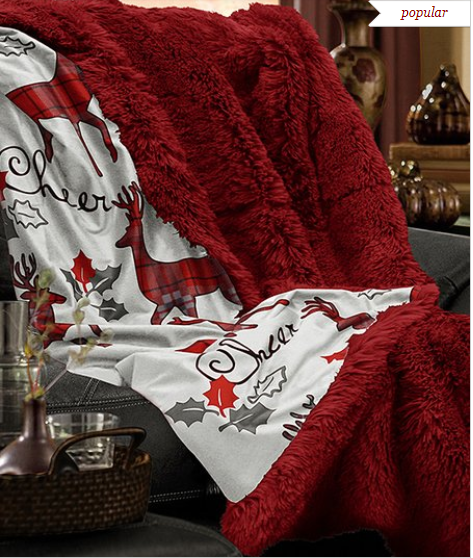 Snuggle up this holiday season in plush warmth with this festive throw that  makes the ideal complement to hot cocoa or cider. So many darling options! c256787b0