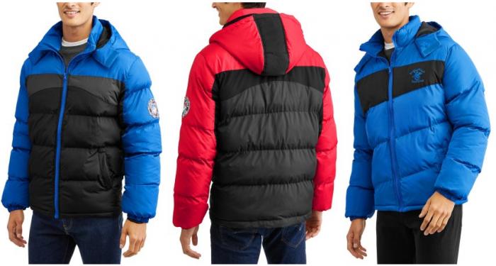 Beverly Hills Polo Club Men's Bubble Color Block Jacket ...