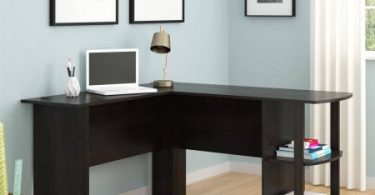 L Shaped Desk With Side Storage, Multiple Finishes $69 (Reg.99)
