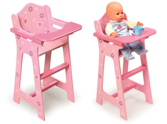 Badger Basket Blossoms And Butterflies Doll High Chair For $18.69! *Fits  Most 18u2033 Dolls*