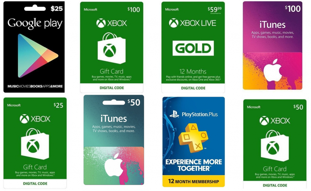 20% Off Gift Cards! *Microsoft Xbox, iTunes, Google Play