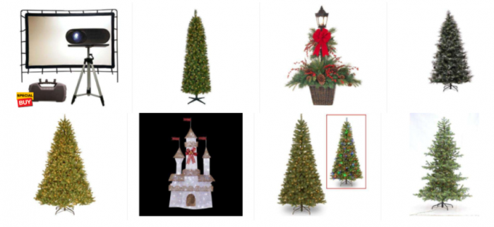 the home depot is offering 75 off select artificial christmas trees and holiday decor - 75 Off Christmas Decorations