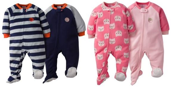9e7ea2135e ... from several 2-packs of footie pajamas for only  6.50 making them only   3.25 a piece! See the girls  styles here and boys  here. Gerber Microfleece  ...