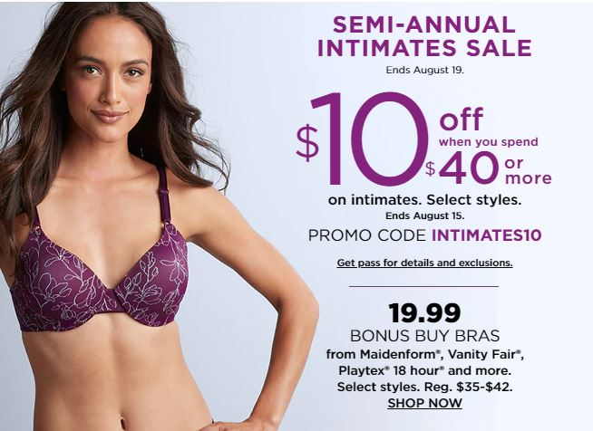 60772a0121 Intimates Sale  Bras for only  11.54 + Free Shipping  Kohl s ...