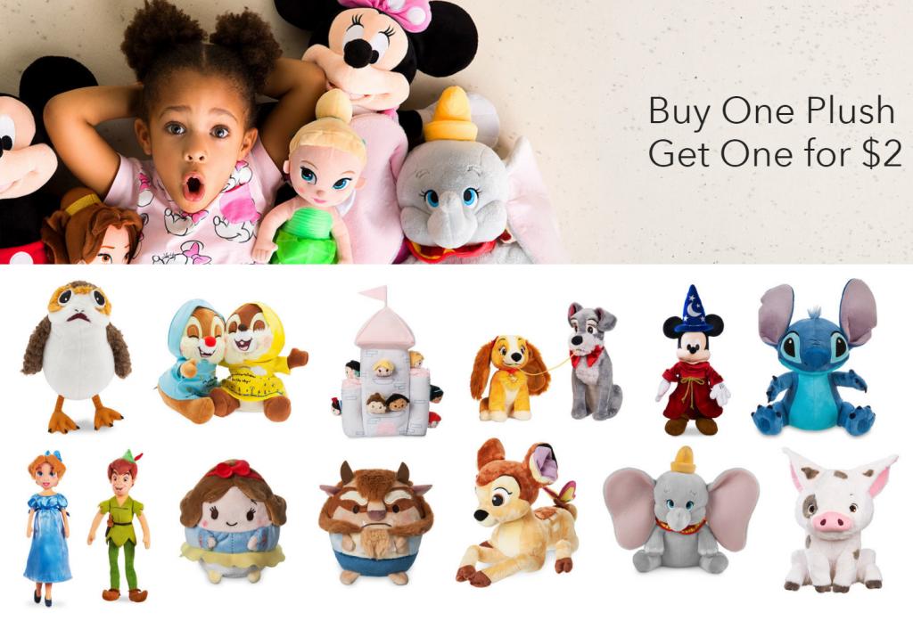 Buy One Disney Plush Toy, Get One for $2! Mini Ufufy ...