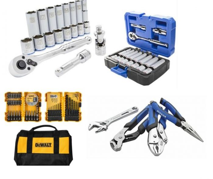 50% off kobalt & dewalt tools at lowe's! 19 piece mechanic's set ...