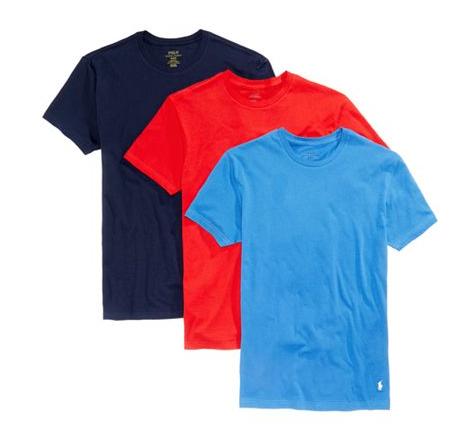 Polo Ralph Lauren Men S 3 Pack Cotton Crew T Shirts 13 50 Reg