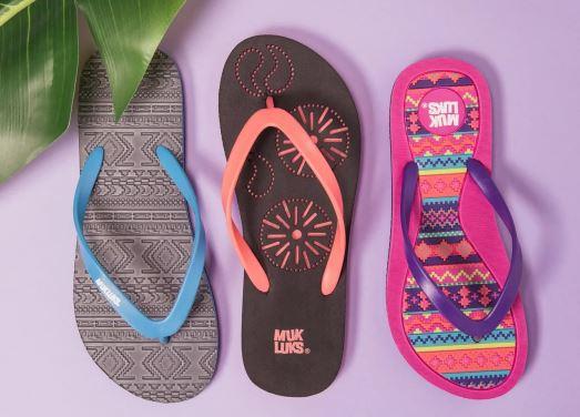 9dc3c7dc0419c6 MUK LUKS Women s Flip Flops for  14.99 (Reg  18) + Free Shipping ...