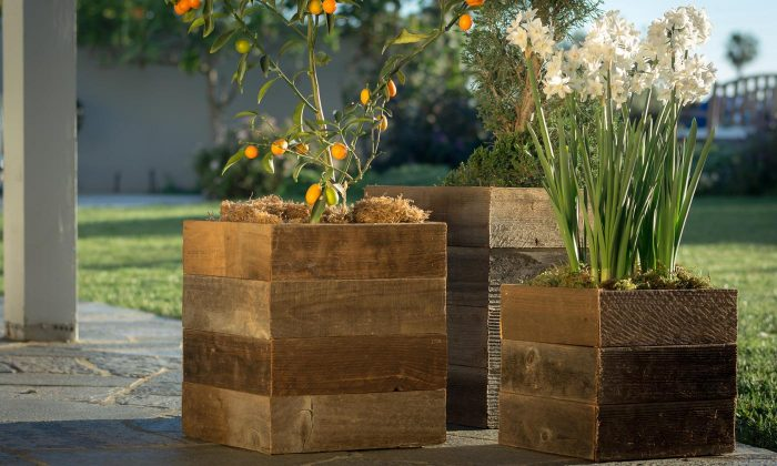 Pacific Royal Reclaimed Wood Square Planter Boxes From 29