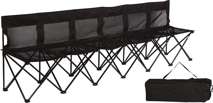 Trademark Innovations Portable Sports Bench With Case