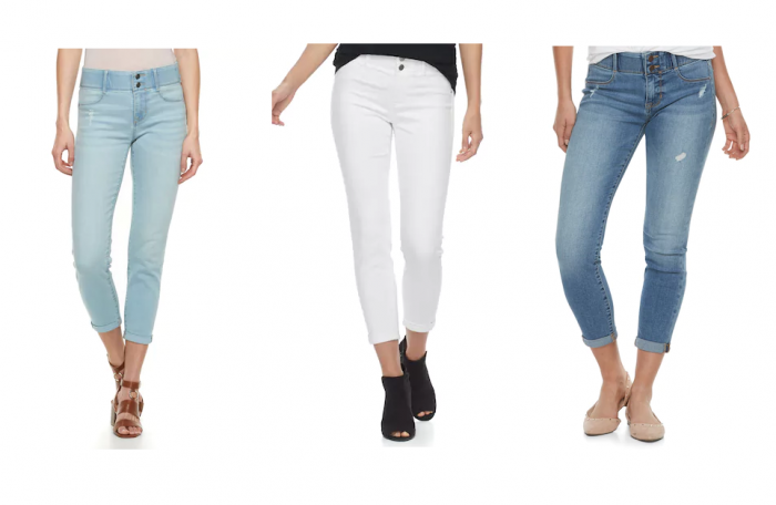 These Darling Capri S Come In 7 Colors And Have Tummy Control To Keep You Looking Slim This Spring I Love The Distressing Light Denim