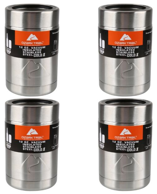 788a09db55e Ozark Trail 12-Ounce Vacuum Insulated Can Cooler 4-Pack for $12 (Reg  $26.96) *Just $3 Each!*