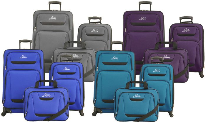 c368c71c1619 Skyway Discovery Soft-Sided Spinner Luggage Set (3-Piece) for  72.99  Shipped!