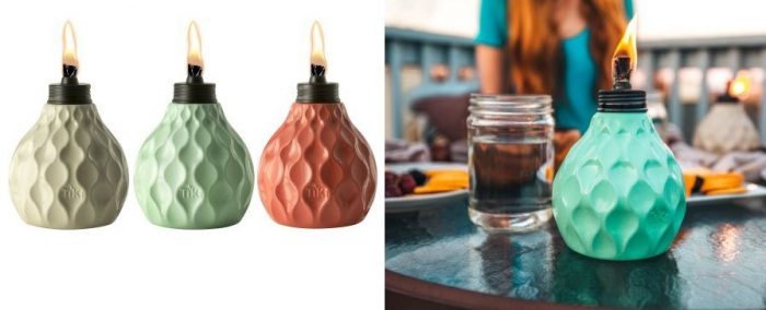 TIKI Brand 6 Inch Marine Glass Table Torches, 3 Pack For $13.23! *Mosquito  Repellent!*