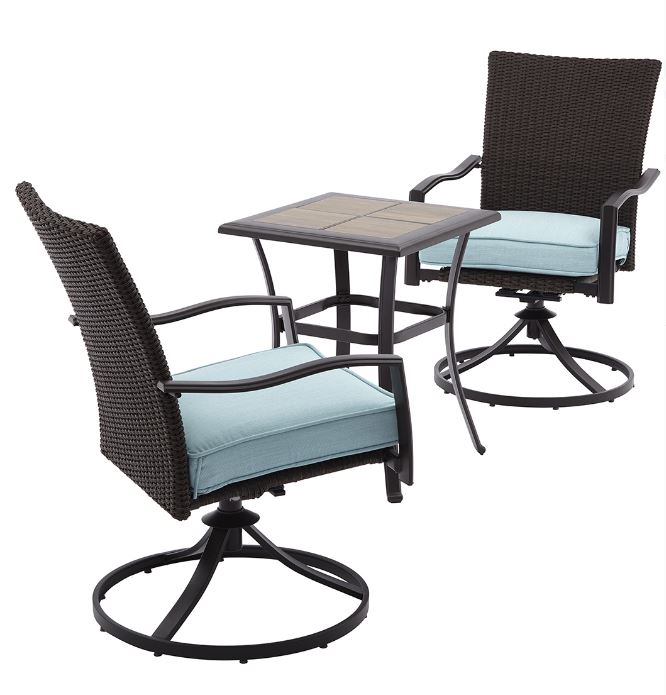 Miraculous Better Homes And Garden Piper Ridge 3 Piece Wicker Bistro Home Interior And Landscaping Ologienasavecom
