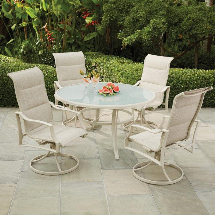 Merveilleux Hampton Bay 5 Piece Aluminum Outdoor Dining Set For $249.50 (Reg $599)!