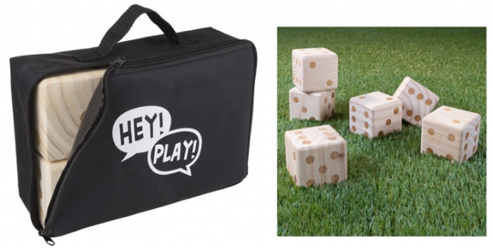 Hey Play Giant Wooden Outdoor Dice Game With Case For 2099 Reg