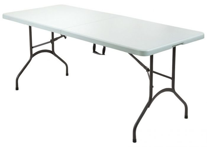 Realspace 6 Plastic Fold In Half Table For Reg