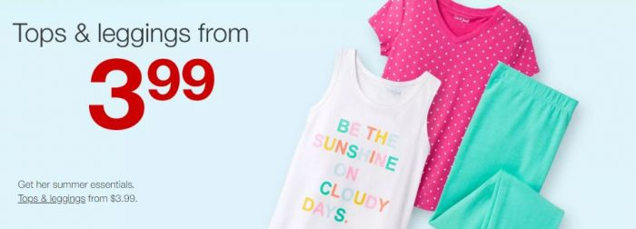 fd159ed0b3cb5 Stock up on summer clothes for the kiddos! Target has Cat & Jack Kids Tops  & Leggings for just $3.99!