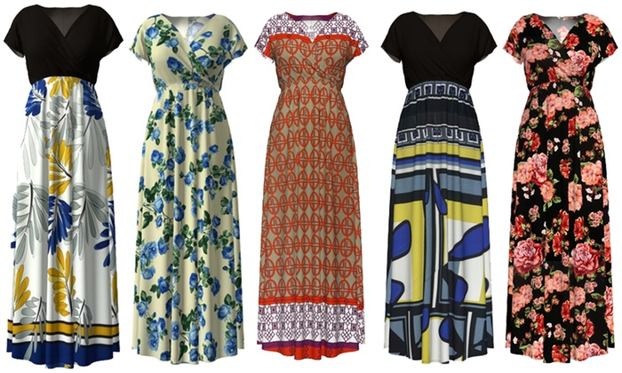 Women\'s Plus Size Maxi Dresses for $19.99! *Sizes L-4X ...