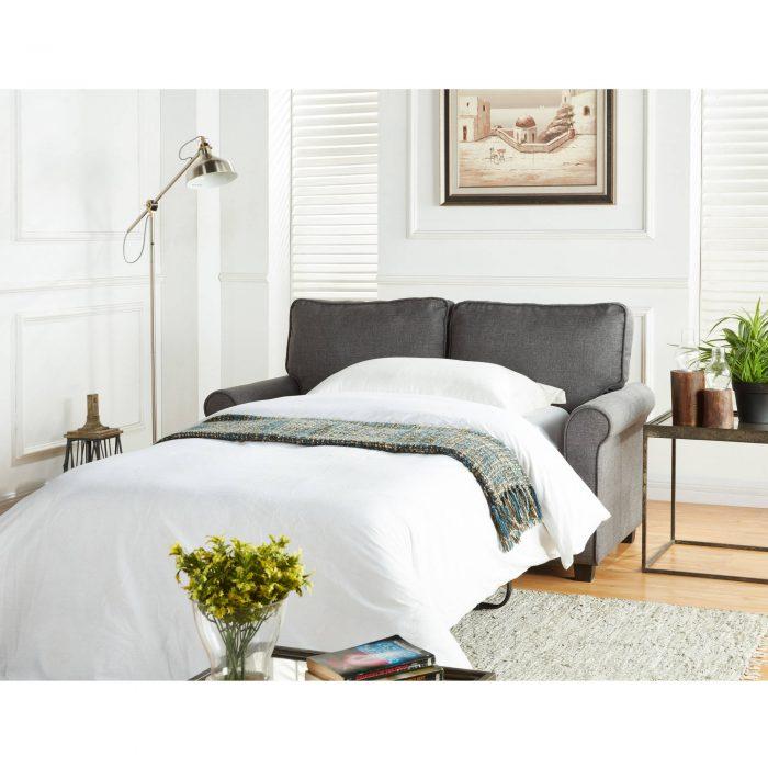 57 Loveseat Sleeper With Memory Foam Mattress 299 99