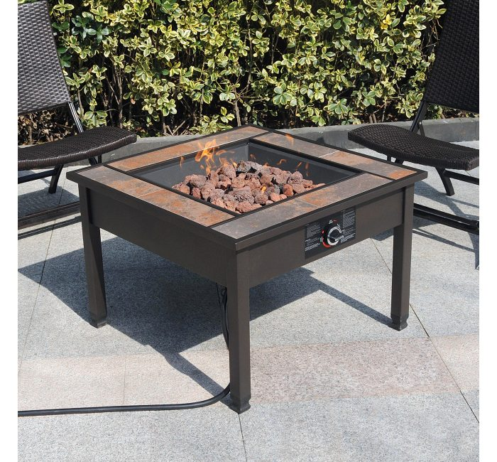 Bon Wonu0027t This Fire Pit Be Amazing To Have This Fall? Enjoy The Chilly Nights  Outside And Stay Warm By The Fire. Ceramic Tile Table Top ...