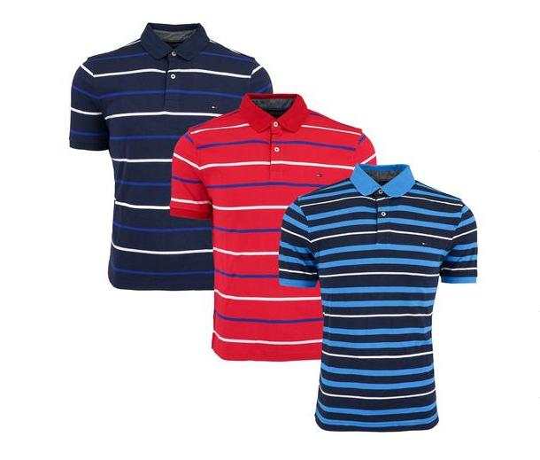 7f4519c4 Tommy Hilfiger Men's Striped Polo 3-Pack $48.00 (reg $149.97) + Free ...
