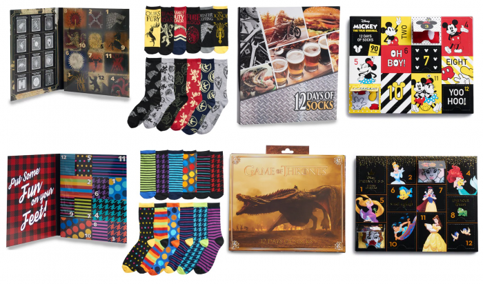 13e01e76d9c32 12 Days of Socks Advent Calendars from $12.49 (Reg $25)! *Includes Disney,  Marvel, Game of Thrones, Star Wars, MORE!
