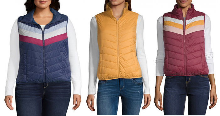 a8d0ba17aa65 Your teens and pre-teens will love these Arizona Puffer Vests! They re only   9.99 (reg  39)! Choose from 8 solid or color block colors in sizes x-small  to ...