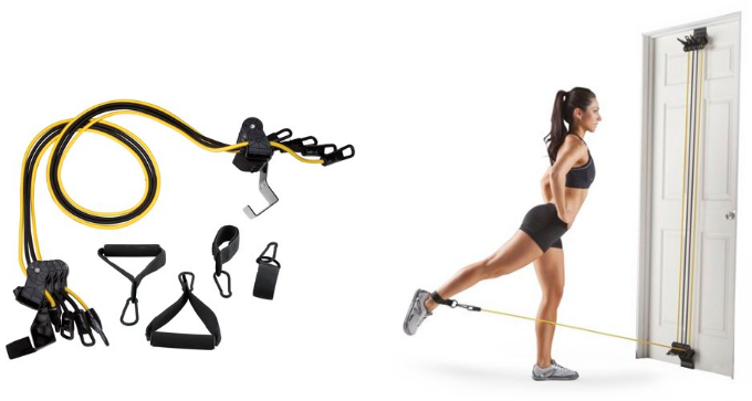 Gold's Gym Total-Body Resistance Band Training Home Gym for