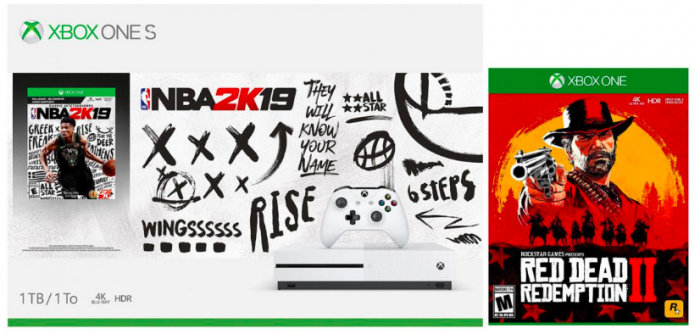 Xbox One S 1TB Console NBA 2K19 + Red Dead Redemption 2