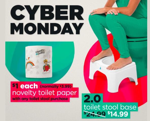 Squatty Potty Cyber Monday Deals 14 99 Squatty Potty 1 Toilet