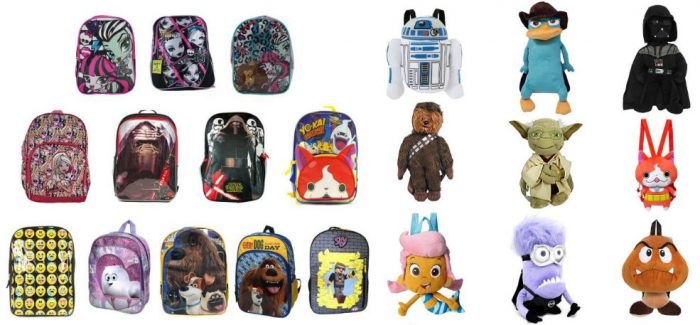 Licensed Kids Backpacks Plush Bags 4 95 To 9 99 Buy Two Get