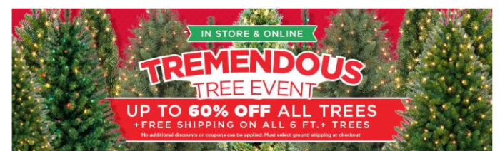 michaels is famous for their artificial tree deals and now you can shop them online shipping on your entire order is free when you purchase - Michaels Christmas Eve Hours