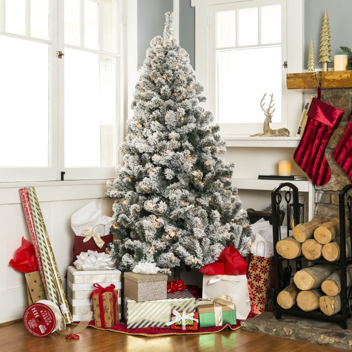 12 Ft Flocked Christmas Tree: Best Choice Products 6ft Pre-Lit Snow Flocked Artificial
