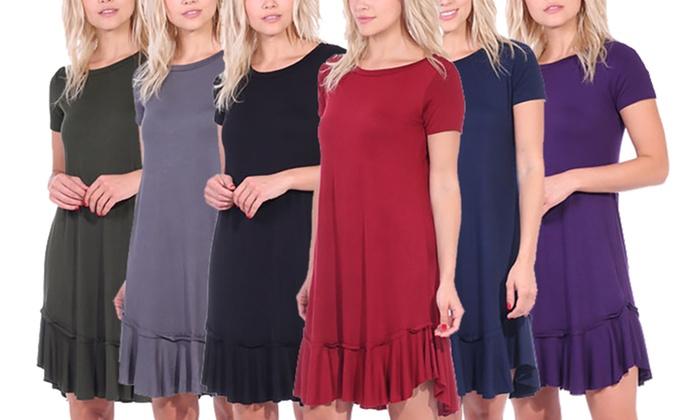Women\'s Ruffle-Hem Dress with Plus-Size $12.99 (reg $69.99) – Utah ...