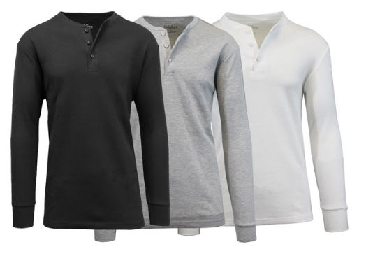 3db379a5 Choose from 2 styles up to size 3XL. The prices are good today January 7  only. Galaxy by Harvic Men's Waffle Knit Thermal ...