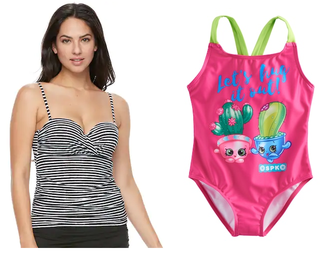 796ee4cfbb3 Head over to Kohl's for some amazing prices on women's and girls' swimsuits!