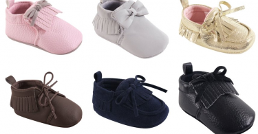 dbdf52b9b70 Baby Moccasin Booties for  6.79 (Reg  29.99)!  One Day Only