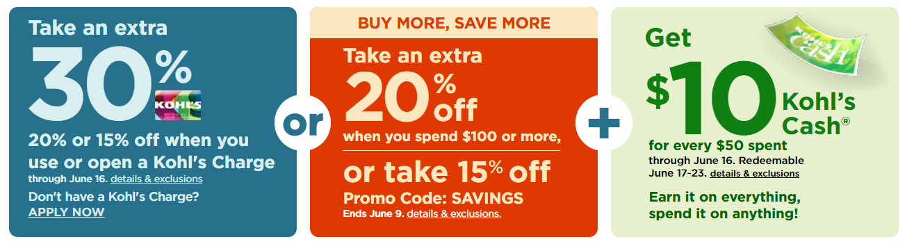 fcc2f77ede162 Kohl's: 30% Off Code + Free Shipping for Cardholders! Plus Stackable ...