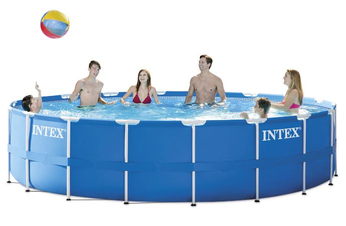 Intex 15 X 48 Metal Frame Above Ground Pool With Filter