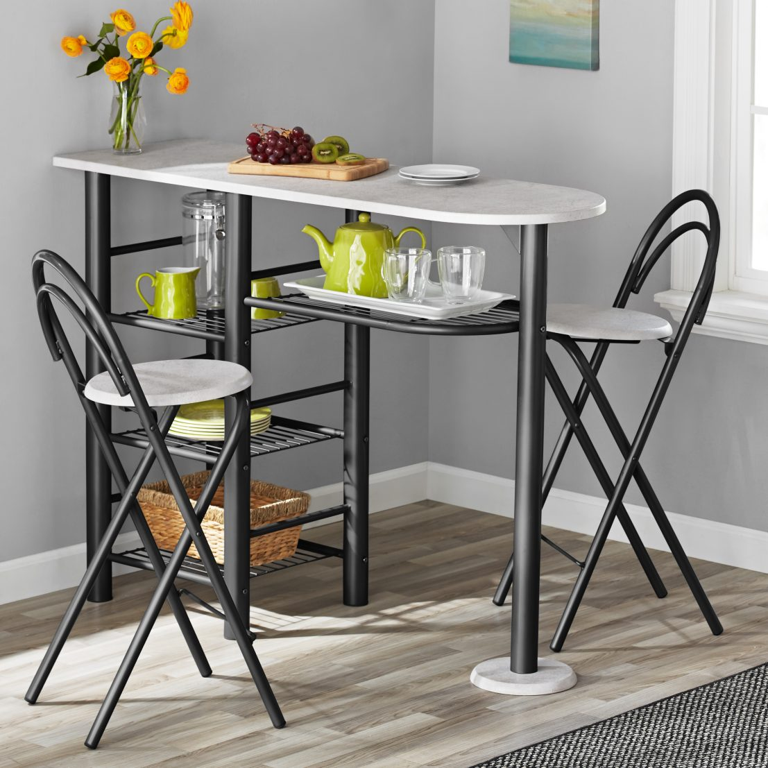 Phenomenal Mainstays 3 Piece Brooklyn Counter Height Dining Set For Machost Co Dining Chair Design Ideas Machostcouk