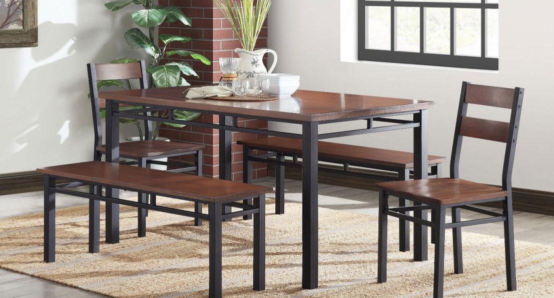 Better Homes Gardens Austen Dining Table For 109 99 Reg 149 Matching Bench Chairs Utah Sweet Savings