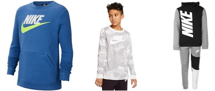 Kids Nike Apparel 60% off Sale as low