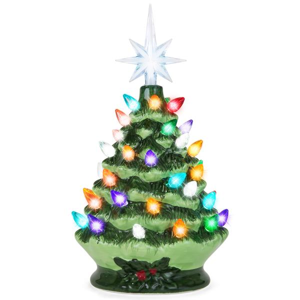 Best Choice Products Pre Lit 9 5 Christmas Tree For 18 99 Shipped Regularly 28 99 In Green Or Rose Gold Utah Sweet Savings